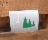 Washington State two color vinyl decal - Hillbilly Decals