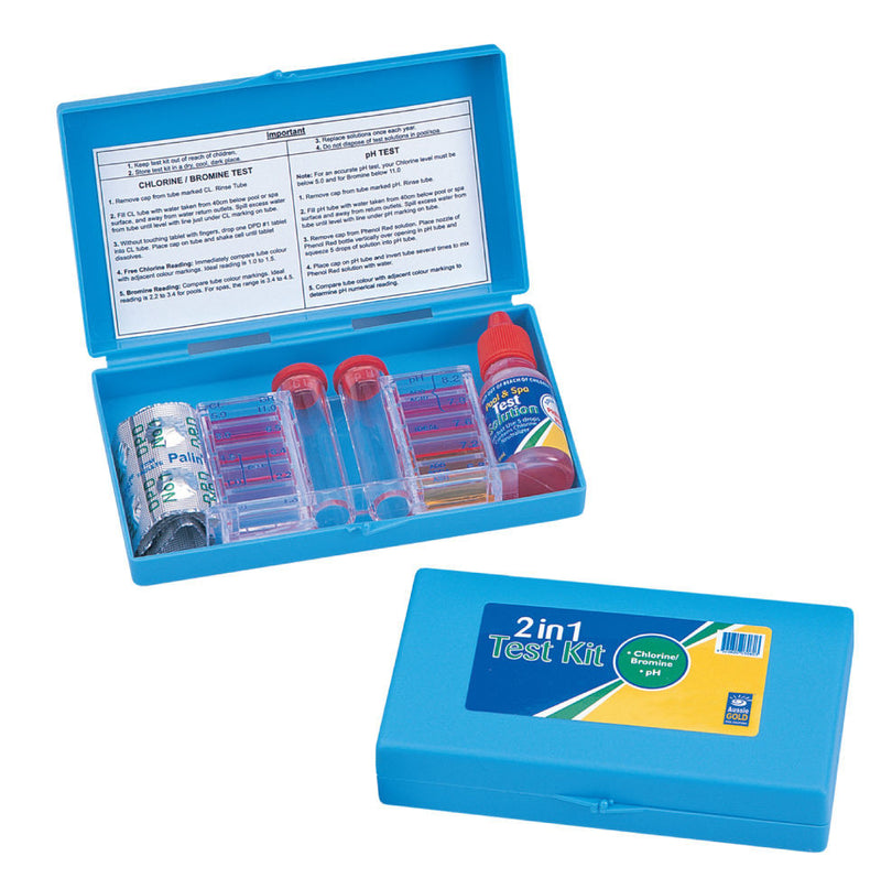 Aussie Gold 2 in 1 Pool Test Kit Chlorine/Bromine & PH