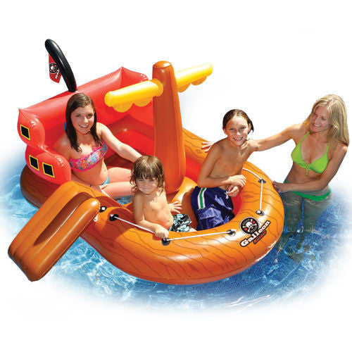 Swim Sportz Galleon Raider Pirate Ship Inflatable Pool Toy