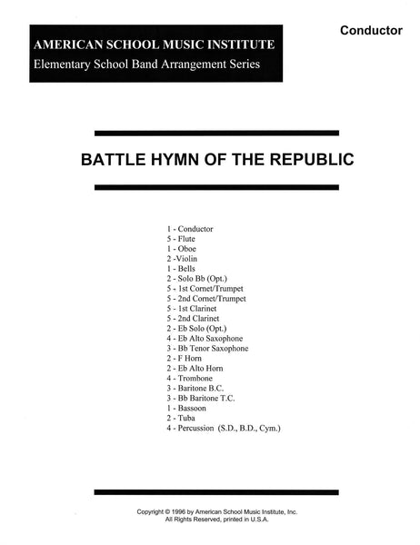 Battle Hymn of the Republic - Full Band