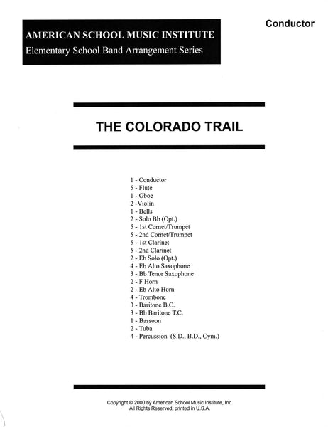 Colorado Trail - Full Band