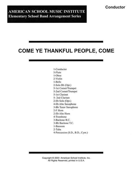 Come Ye Thankful People Come - Full Band