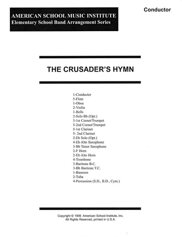 Crusader's Hymn - Full Band