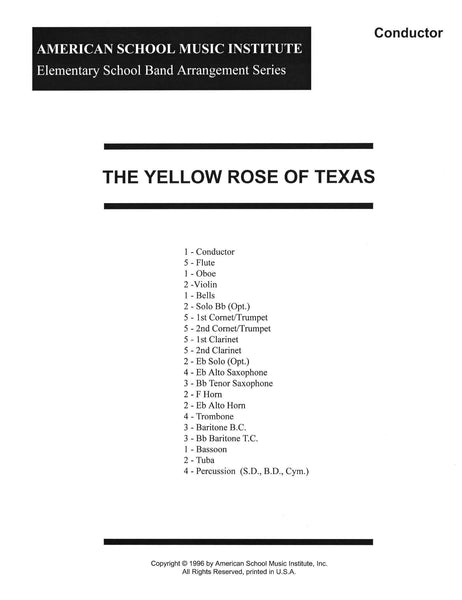 Yellow Rose Of Texas - Full Band