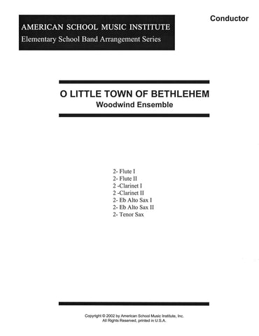 O Little Town Of Bethlehem - Woodwind Ensemble