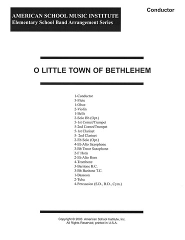 O Little Town Of Bethlehem - Full Band