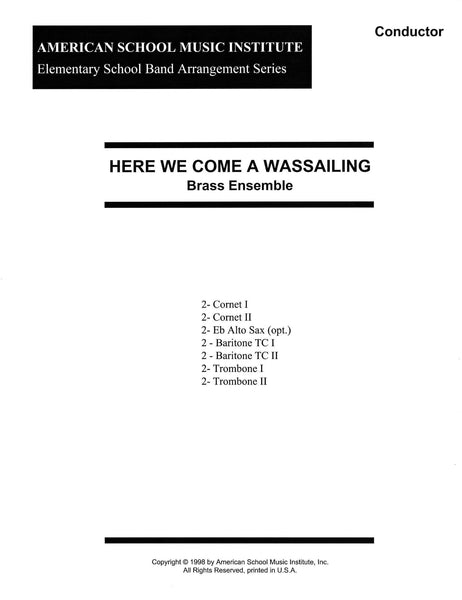 Here We Come A Wassailing - Brass Ensemble