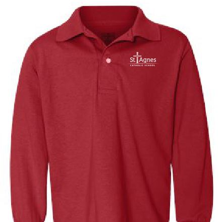 St. Agnes Youth Long-Sleeve Polo