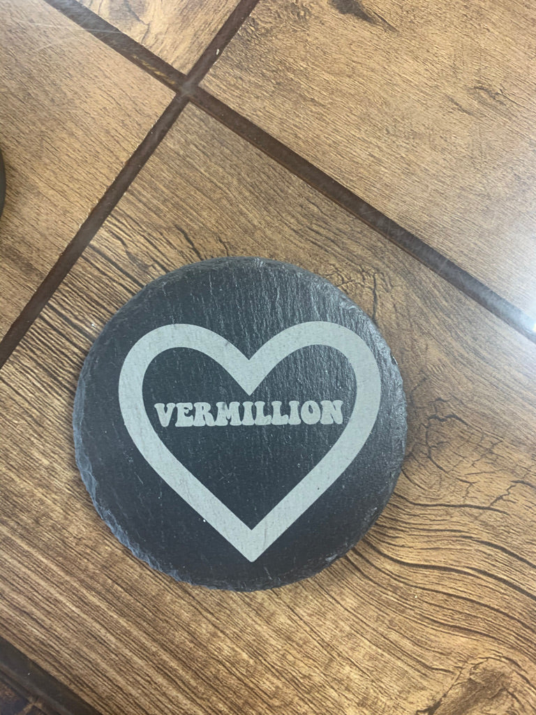Love Vermillion Coaster