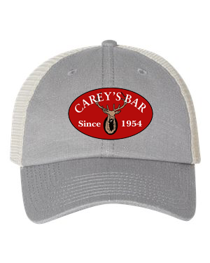 Carey's Red Oval Logo Hat