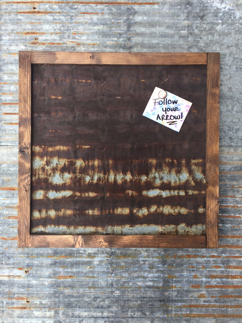 Vintage Barn Tin Magnetic Board