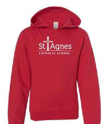 St. Agnes Youth Hooded Sweatshirt