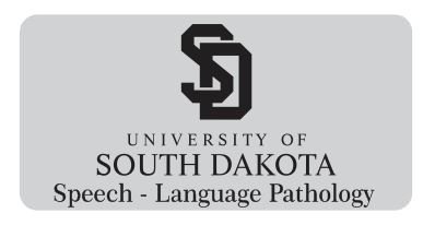 USD DCOM Speech - Language Pathology Magnetic Tag