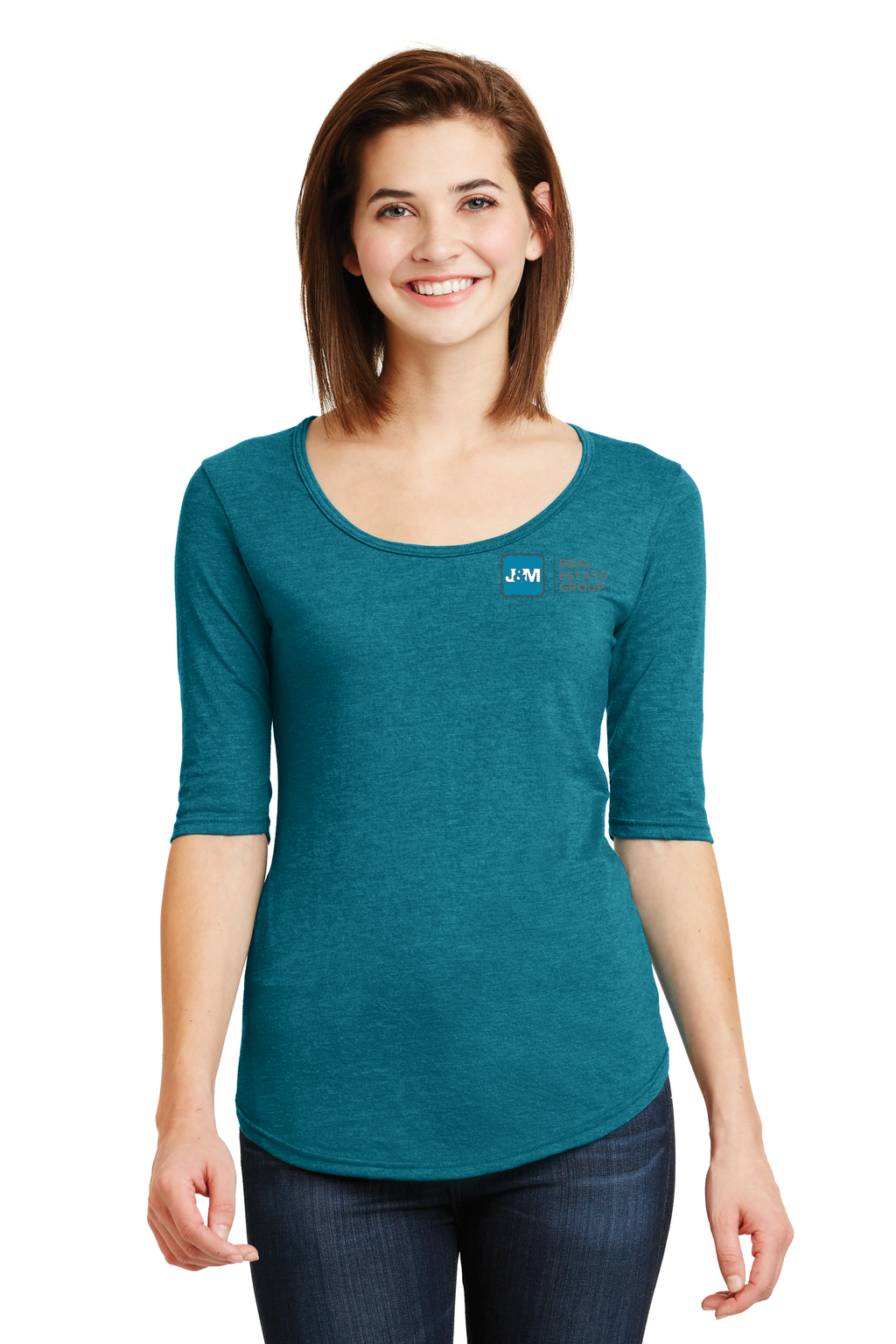 J&M Ladies Deep Scoop Neck