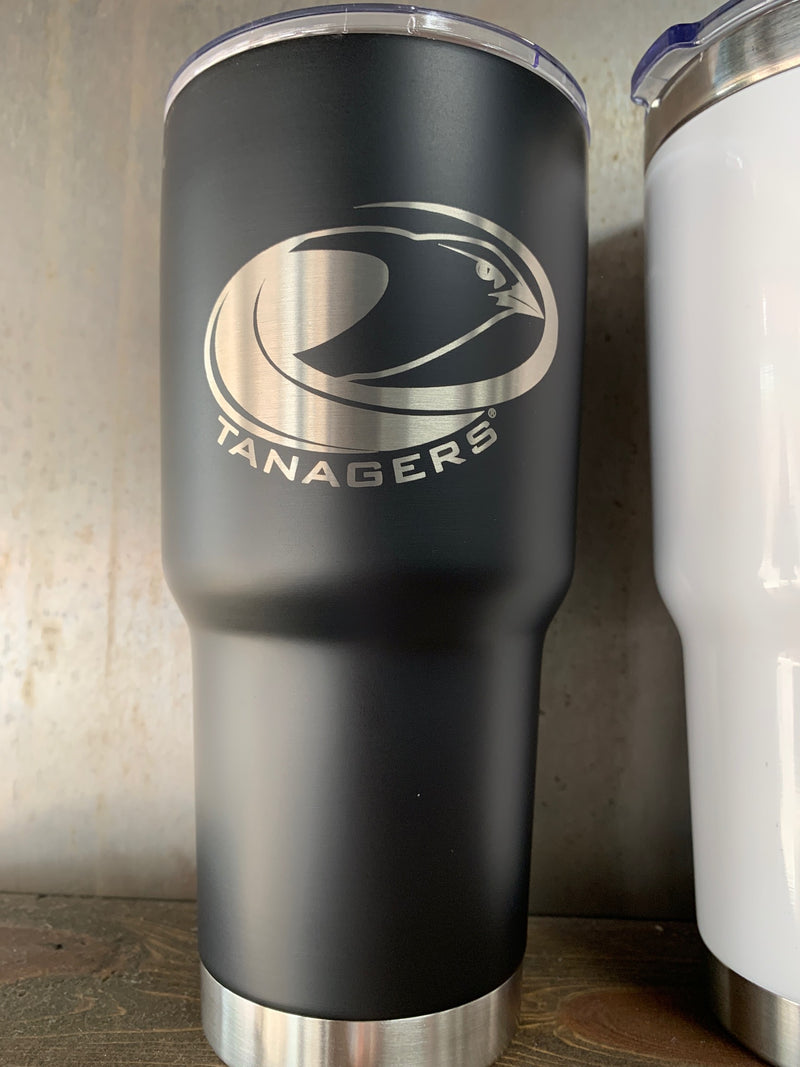 Black 30 oz. insulated cup w/Tanagers logo