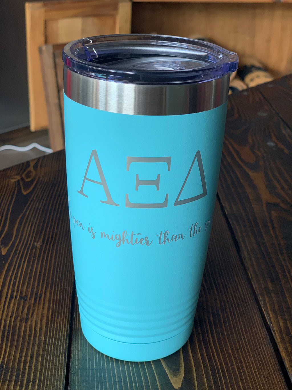 AZD sorority 20 oz insulated cup w/lid
