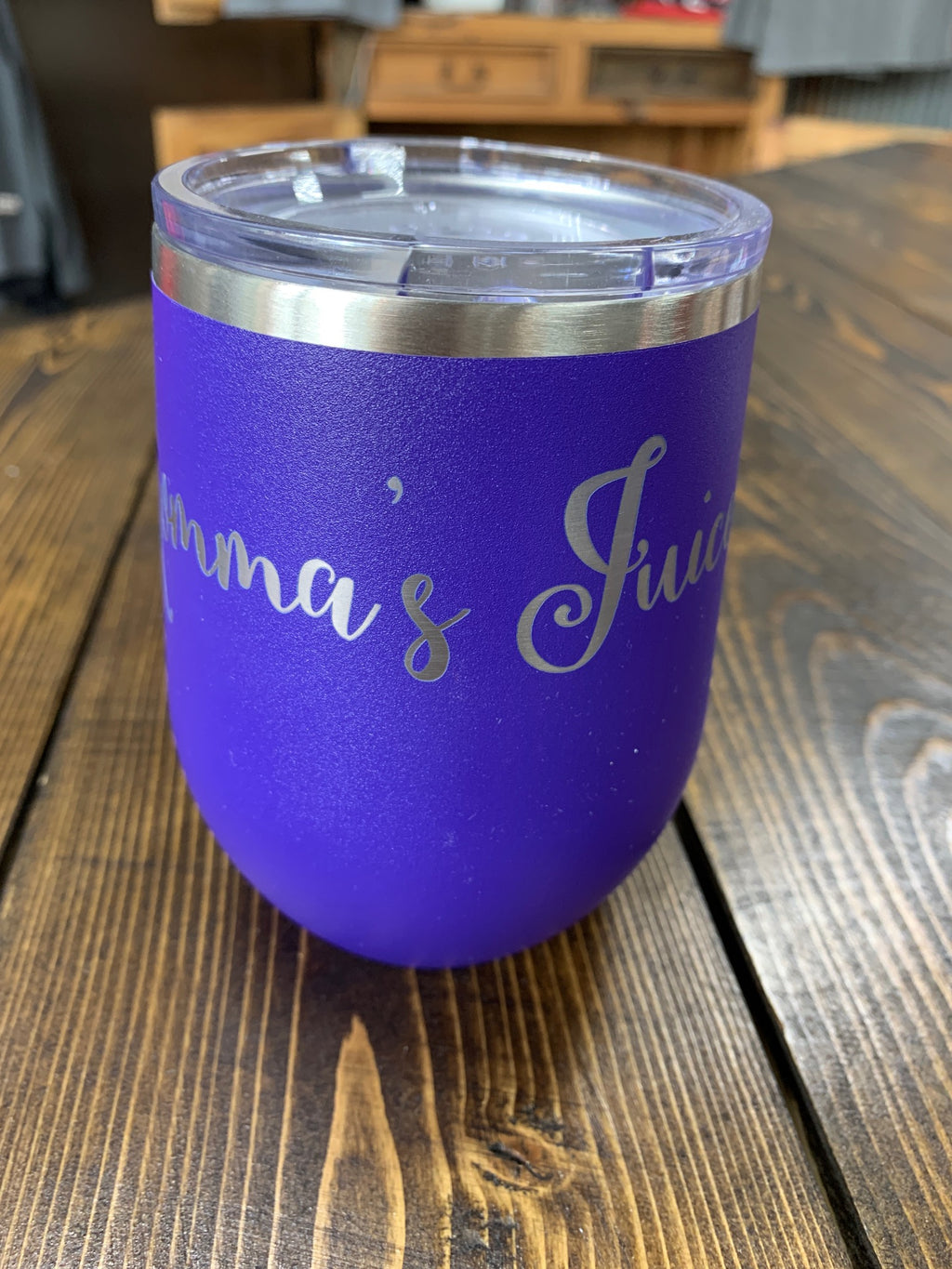Purple 12 oz tumbler Mommas Juice