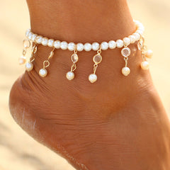 The Falling Pearl Ankle Bracelet