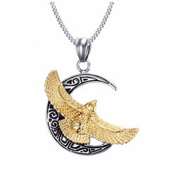 The Gold Eagle Pendant Necklace