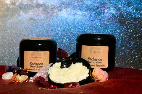 Radiance Body Butter, Shea Butter, Natural Moisturizer, Essential Oils, Holistic Skin Care, Gift for Her, Natural Skin Care, Goddess, Herbs