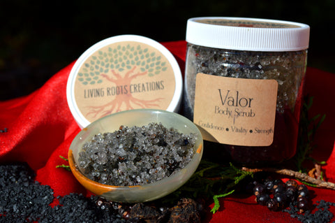 Valor Body Scrub / Black Salt Body Scrub / High John Oil / Confidence / New Job / Spiritual Cleansing / Valentine's Gift / Men's Body Scrub