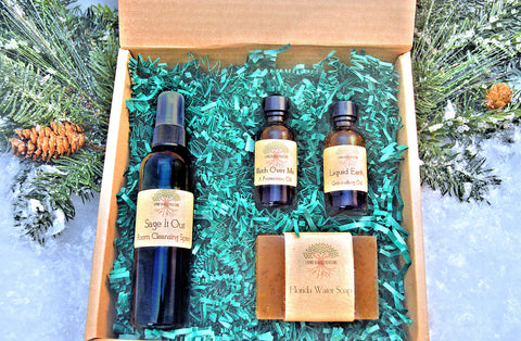 The Happy Medium, empath gift, wiccan gift, pagan gift, medium gift, reiki, occult, holistic gift, sage spray, protection oil, florida water