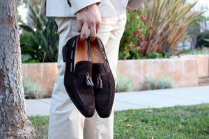 Carrucci by Maurice Suede Tasseled Loafer Brown