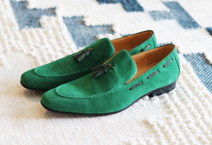 Carrucci by Maurice Suede Tasseled Loafer Green