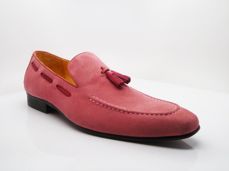 Carrucci by Maurice Suede Tasseled Loafer Rose