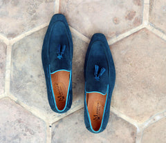 Carrucci by Maurice Suede Tasseled Loafer Teal