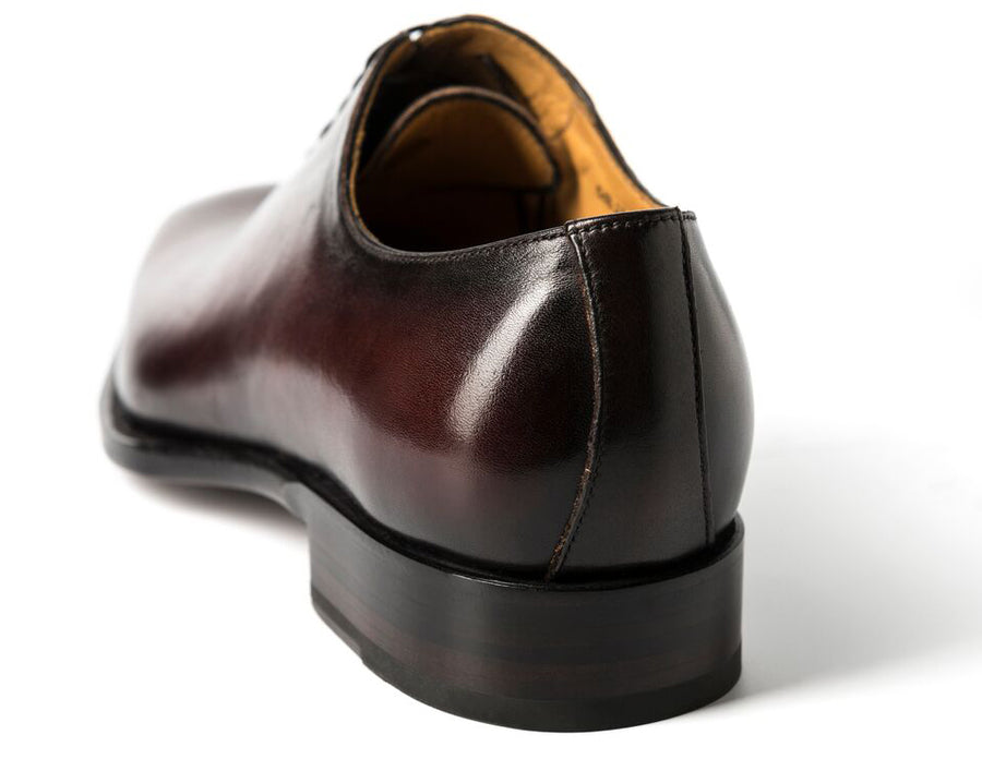 Burnished Calfskin Lace-Up Oxford Brown
