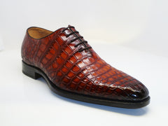 Burnished Alligator Lace-Up Oxford Sport-Rust