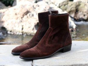 Corrente Suede Slip-On Boot Brown