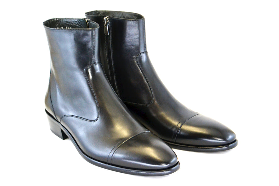 Corrente Burnished Calfskin Slip-On Boot Black
