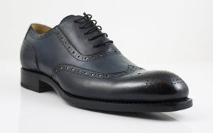 Burnished Calfskin Wingtip Spectator Oxford Blue