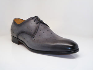 Perforated Calfskin Oxford Grey