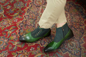 Calfskin Slip-On Boot Emerald