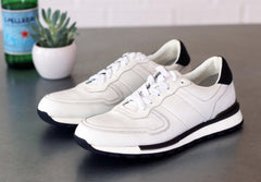 Ugo Vasare by Maurice Calfskin Lace-Up Sneaker White