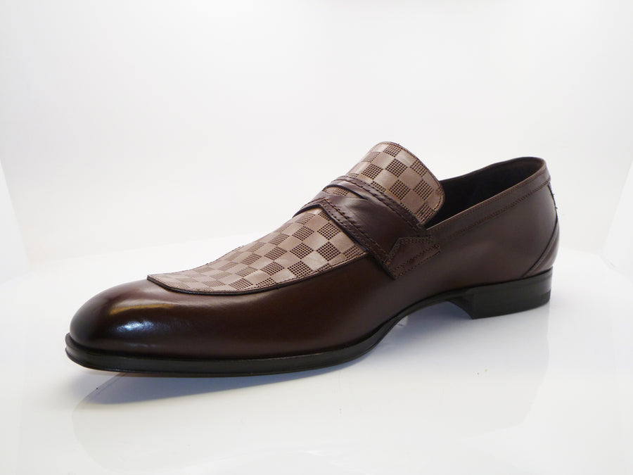 Mezlan Calfskin Slip-On Loafer Brown/Taupe