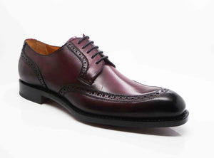 "Burnished Calfskin ""Colin"" Lace-Up Oxford Burgundy"