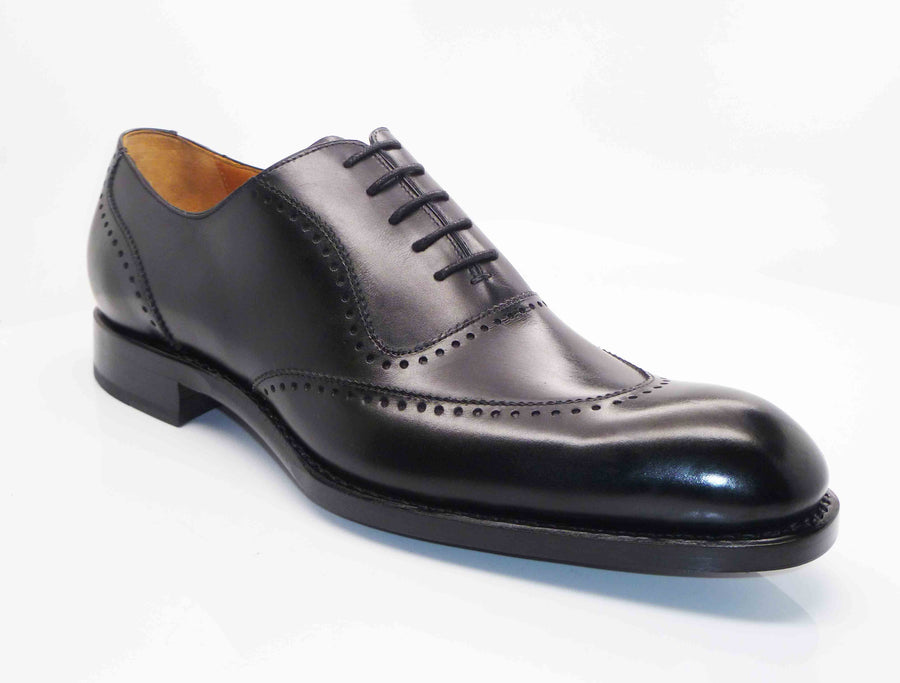 "Burnished Calfskin ""Charlton"" Lace-Up Oxford Black"