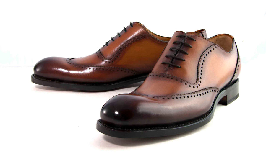 "Burnished Calfskin ""Charlton"" Lace-Up Oxford Caramel"