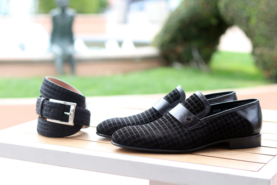 Corrente Suede Slip-On Loafer Black