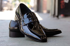 Shiny Calfskin Penny Loafer Black