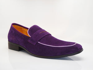 Suede Penny Loafer Purple