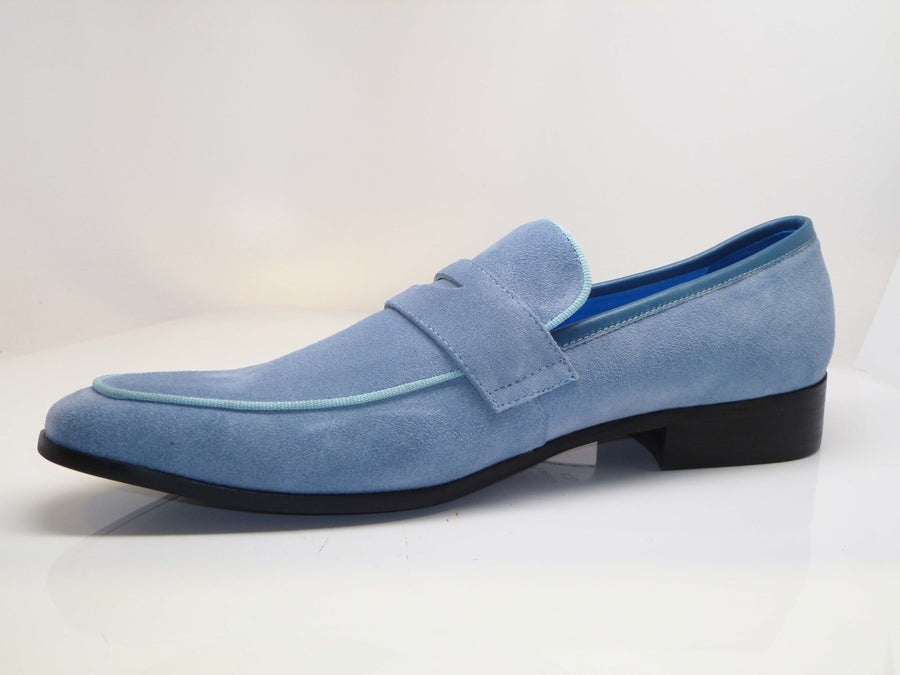 Suede Penny Loafer Sky/Blue
