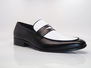 Calfskin Spectator Loafer Black/White