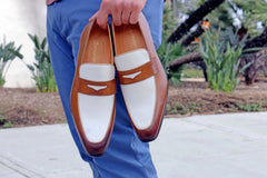 Calfskin Spectator Loafer Brown/Bone