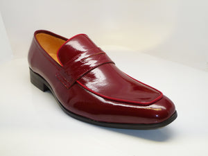 Shiny Calfskin Penny Loafer Burgundy