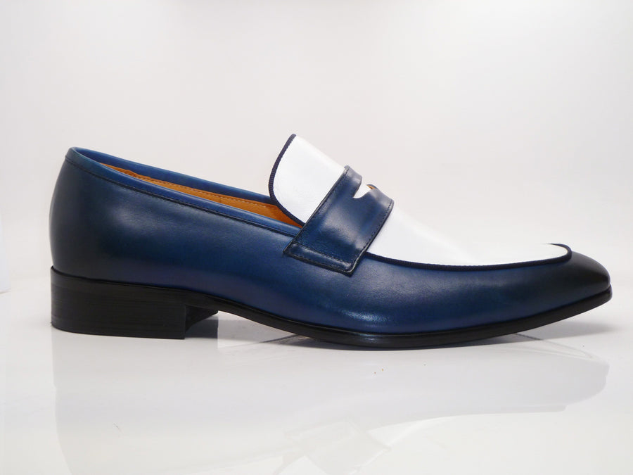 Calfskin Spectator Loafer Navy/White